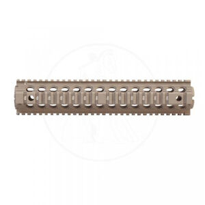 "Troy Industries AR-15 Drop-In Handguard Rifle Length 12"" Quad Rail Aluminum Anodized FDE"