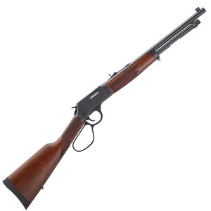 "Henry Big Boy Steel Carbine Lever Action Rifle .41 Magnum 16.5"" Round Barrel 7 Rounds Steel Receiver Large Loop Lever American Walnut Stock Blued Barrel"