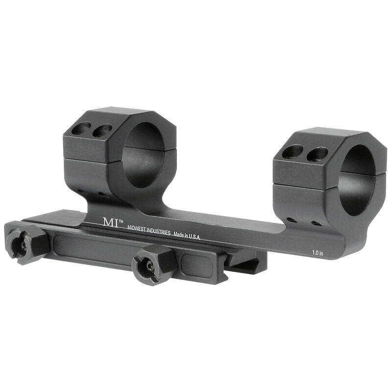 """Midwest Industries Gen2 Scope Mount with 1.4"""" Offset 1"""" Scope Tube Aluminum Black"""