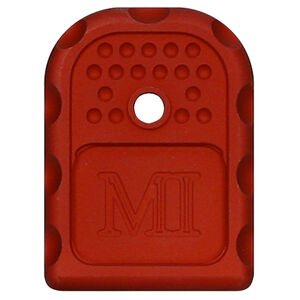 Midwest Industries GLOCK Magazine Floor Plate 6061 Aluminum Anodized Finish Red