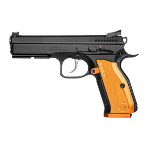 "CZ Shadow 2 Orange Semi Auto Pistol 9mm Luger 4.89"" Barrel 17 Rounds Aluminum Orange Grips Black Finish"