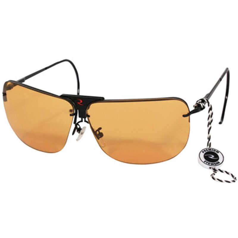 Radians Interchangeable Shooting Glasses with Clear, Orange, and Amber Lens Metal Frame RSG-3LK