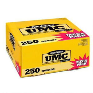 Remington UMC .40 S&W Ammunition 250 Rounds 165 Grain Full Metal Jacket 1150fps Mega Value Pack