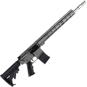 "Great Lakes .450 Bushmaster AR-15 Semi Auto Rifle 18"" Stainless Steel Barrel 5 Rounds 15"" Free Float M-LOK Handguard Collapsible Stock Gray Cerakote Finish"