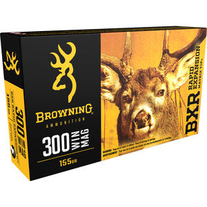 Browning BXR .300 Winchester Magnum Ammunition 20 Rounds BXR 155 Grains B192103001