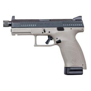 "CZ P-10 C Urban Grey Suppressor-Ready 9mm Luger Semi Auto Pistol 4.61"" Threaded Barrel 17 Rounds Night Sights Polymer Frame Black/Grey Two Tone Finish"
