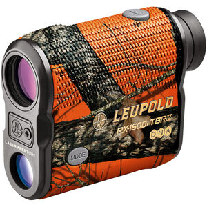 Leupold RX-1600i TBR with DNA Laser Rangefinder 6x Magnification 3 Reticles 1600 Yard Max Range Armor Coated Inclinometer Mossy Oak Blaze Orange