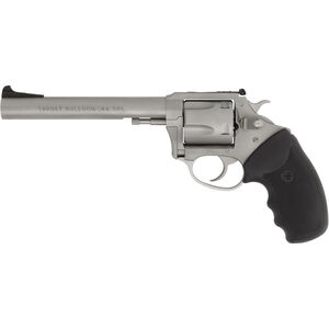 "Charter Arms Target Bulldog .44 Special DA/SA Revolver 6"" Barrel 5 Rounds Rubber Grip Matte Stainless Finish"