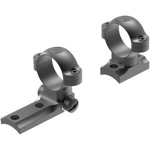 """Leupold STD 1"""" Medium Rings & 2 Piece Base Combo Fits Savage 10/110 Direct Mount Steel Matte Black"""
