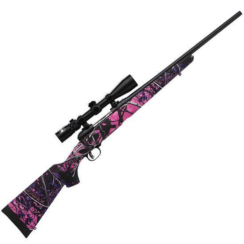 "Savage Arms 11 Trophy Hunter XP Youth Bolt Action Rifle .243 Winchester 20"" Barrel 4 Rounds Synthetic Stock Muddy Girl Camo Matte Black Finish with Nikon 3-9x40mm Riflescope 22206"