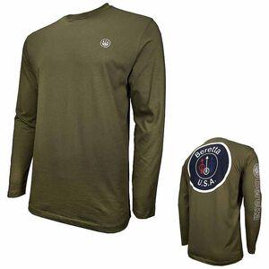 Beretta Special Purchase Men's T Shirt USA Logo Long Sleeve 2XL Cotton Black