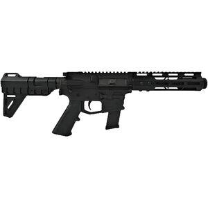 "ATI MILSPORT 9mm Luger AR-15 Semi Auto Pistol 5.5"" Barrel with Flashcan 31 Rounds Aluminum Receivers 7"" M-LOK Handguard Blade Pistol Brace"