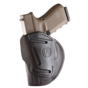 1791 Gunleather 4 Way WH-5 Multi-Fit IWB/OWB Concealment Holster for Full Size/Compact Semi Auto Models Right Hand Draw Leather Signature Brown