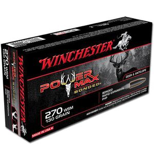 Winchester Power Max .270 WSM Ammunition 20 Rounds, PHP, 130 Grains