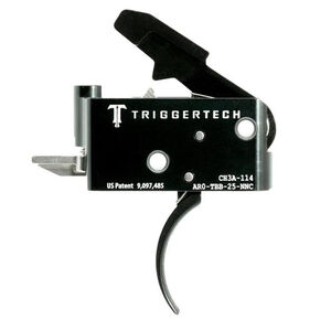 Trigger Tech Adaptable AR-15 Primary Drop In Replacement Trigger Curved Lever Two Stage Adjustable PVD Coated Black Finish