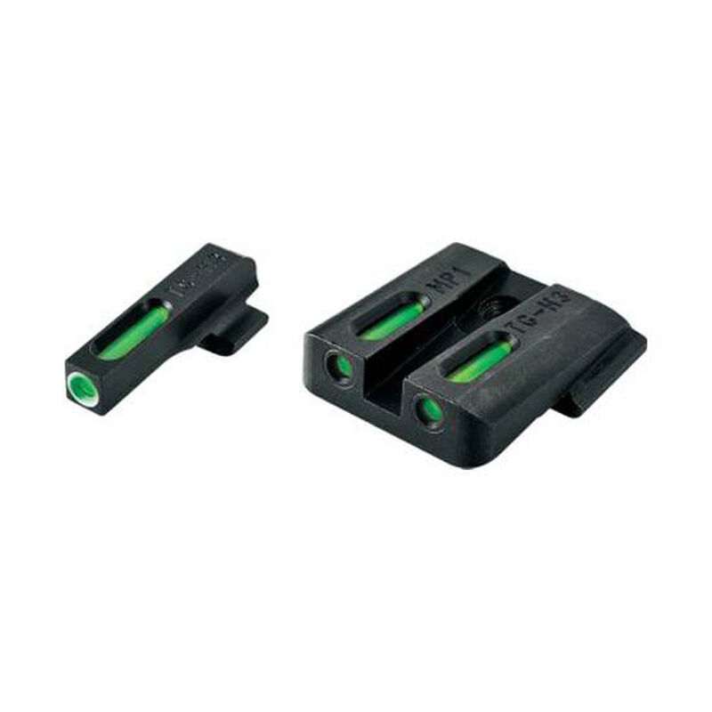 TruGlo TFX Standard Height Ruger SR Series Front/Rear Day/Night Sight Set Green Tritium 3-Dot Configuration Steel Black TG13RS1A