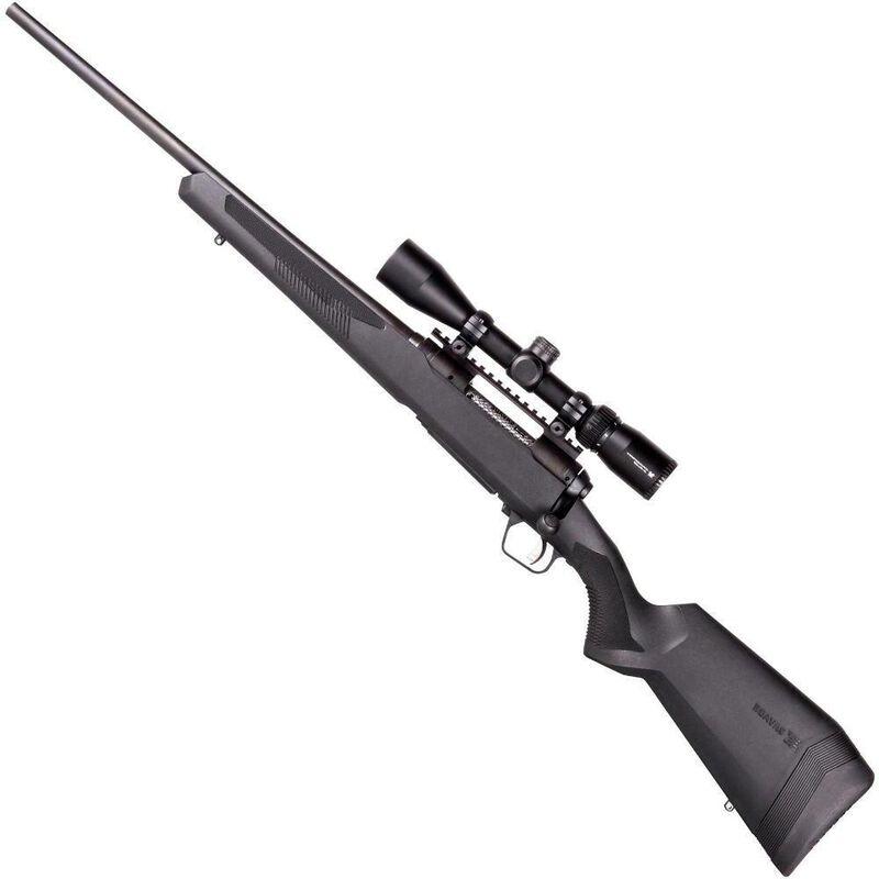 "Savage 110 Apex Hunter XP Left Hand Bolt Action Rifle .223 Remington 20"" Barrel 4 Rounds DBM Vortex Crossfire II 3-9x40 Riflescope AccuTrigger Synthetic Stock Matte Black Finish"