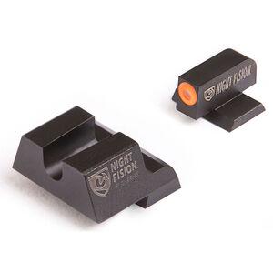 Night Fision Perfect Dot Tritium Night Sight Set Canik TP9SF Elite/TP9SF/TP9SA Green Tritium Front/Blank Rear U-Notch Metal Body Black Nitride Finish