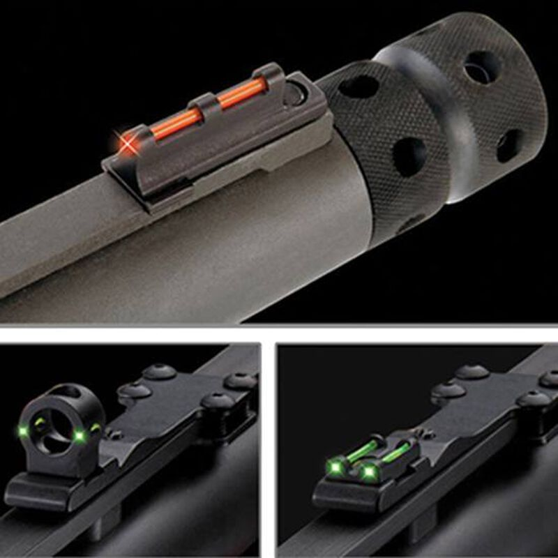 TRUGLO Tru-Bead Turkey Universal Shotgun Sight Ghost Ring and Notched Rear Sight Green Rear Red Front TG950X