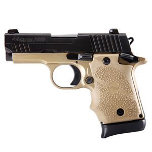 "SIG Sauer P938 Combat Micro-Compact Semi Auto Pistol 9mm Luger 3"" Barrel 7 Rounds SIGLITE Sights FDE Rubber Grips Flat Dark Earth/Black Finish"