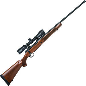 "Mossberg Patriot Walnut Vortex Scoped Combo 7mm Rem Mag Bolt Action Rifle 24"" Fluted Threaded Barrel 3 Rounds with Vortex Crossfire II 3-9x40mm Scope Walnut Stock Matte Blued Finish"
