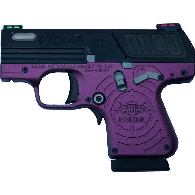 "Heizer Defense Hedy Jane PKO-45 .45 ACP Semi Auto Pistol 2.75"" Barrel 7 Rounds FO Sights Spectrum Steel Frame with Black Slide"