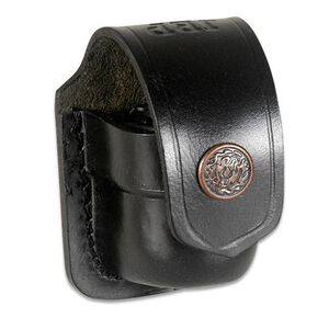 """JBP Single Speed Loader Case Fits .357 and .44 Magnum Black Leather Pouch  Fits up to 1 3/4"""" Belt"""