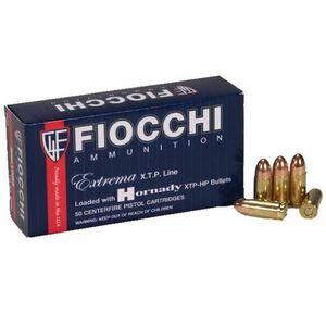FIOCCHI Extrema XTP 9mm Luger Ammunition 500 Rounds Hornady XTP JHP 115 Grains 9XTP25