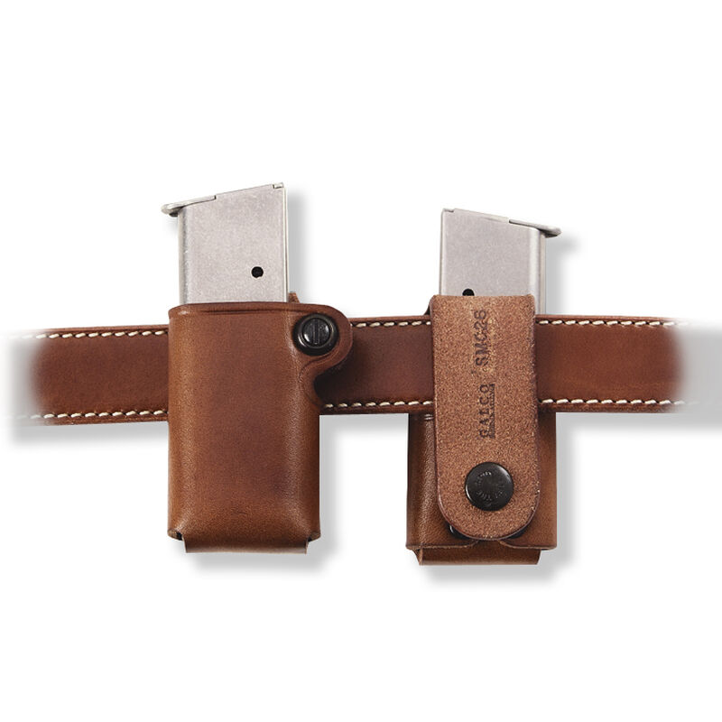 Galco SMC Single Mag Case 9mm/.40 Double Stack Magazine Leather Tan