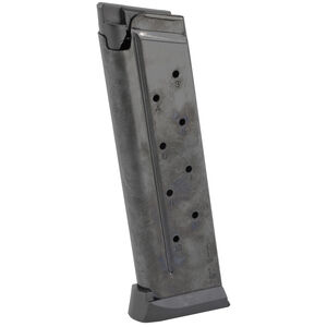 Chiappa Firearms Full Size Government 1911 Magazine 9mm Luger 10 Rounds Steel/Polymer Black