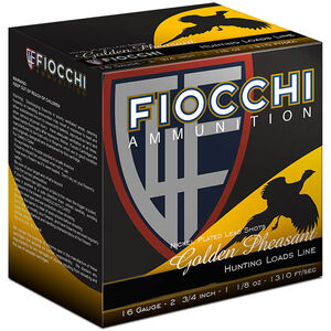"Fiocchi 16 Gauge Ammunition 25 Rounds 2.75"" #5 Nickel Plated Lead Shot 1.125 oz.16GP5"