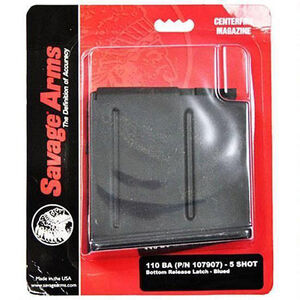 Savage Arms 110BA Magazine .338 Lapua Magnum 5 Rounds Steel Matte Blued 55190