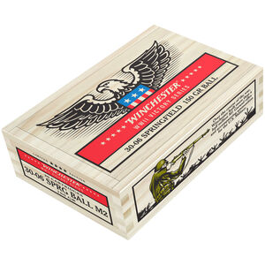 Winchester Victory Series .30-06 Springfield Ammunition 20 Rounds 150 Grain M2 Ball FMJ 2740fps M1 Garand WWII Collector Carton