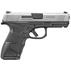 """Mossberg MC2c 9mm Luger Compact Semi Auto Pistol 3.9"""" Barrel 13 Rounds 3-Dot Sights Manual Safety Black Polymer Frame with Matte Stainless Slide"""