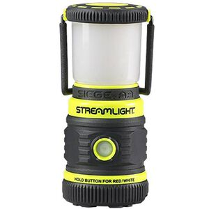 Streamlight The Siege White/Red LED Lantern 200 Lumens C4 LED 3x AA Batteries Side Button Handle/Hook with Magnetic Base Waterproof Polycarbonate Body Yellow 44943