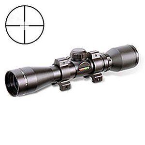 TRUGLO Shotgun Compact 4x32 Riflescope Diamond Ballistic Reticle 1/4 MOA Weaver Rings Included Black Matte Black TG8504BD