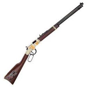 "Henry Golden Boy Firefighter Tribute Edition Lever Action Rifle .22 LR 20"" Barrel 16 Rounds American Walnut Stock Brasslite Receiver H004FM"