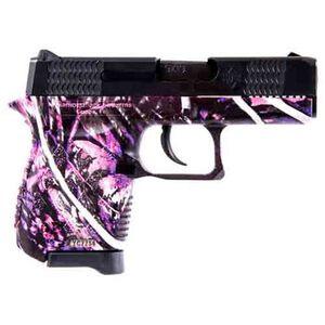 """Diamondback DB9 9mm Semi Auto Handgun Muddy Girl Camo 3"""" Barrel 6 +1 Capacity"""