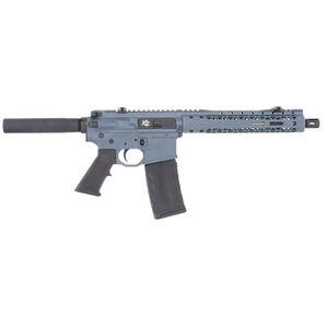 "Black Rain Ordnance Fallout 15 5.56 NATO AR-15 Semi Automatic Pistol 10.5"" Barrel 30 Round M-LOK Slim Hand Guard Pistol Buffer Tube Grey"