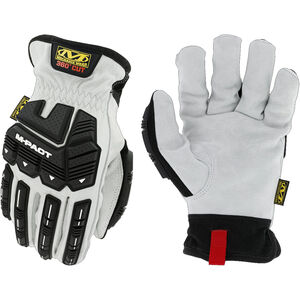 Mechanix Wear Durahide M-Pact Driver HD Driver F8-360 Gloves Size Medium Leather and Synthetic Black and White