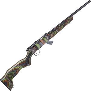 "Savage Mark II Minimalist .22 LR Bolt Action Rimfire Rifle 18"" Threaded Barrel 10 Rounds Green Minimalist Laminate Stock Black Finish"