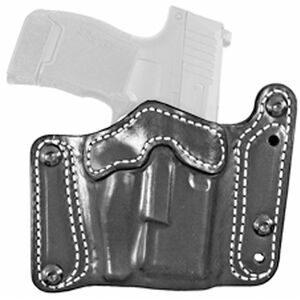 DeSantis Variable GRD Belt Slide Holster fits GLOCK 17 with Reflex Sights and Similar Ambidextrous Leather Black