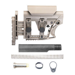 Luth-AR AR-15 MBA-3 Stock Assembly Mil-Spec Tube .223 Carbine Buffer And Spring Dark Earth MBA-3FK-M