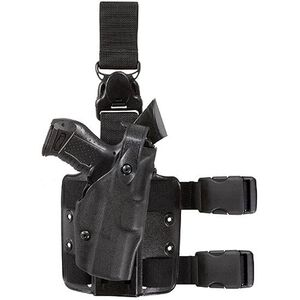 Safariland 6304 ALS/SLS Drop Leg Holster for S&W M&P with Tactical Light, Right Hand, STX Tactical Black