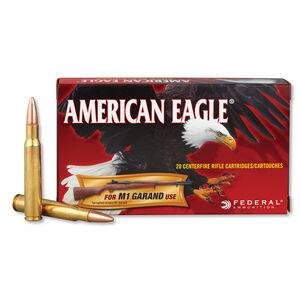 Federal American Eagle .30-06 Springfield Ammunition 20 Rounds FMJ 150 Grains AE3006M1