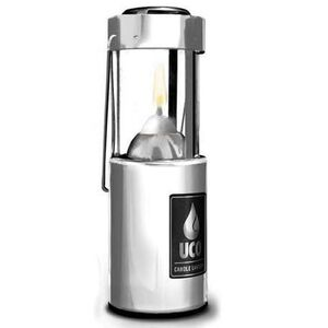 Industrial Revolution Original Candle Lantern Polished Aluminum with Carry Handle L-A-STD
