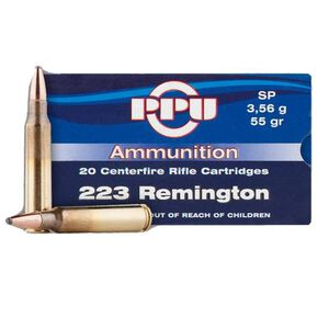 Prvi Partizan PPU .223 Rem Ammunition 20 Rounds 55 Grain SP 3240 fps
