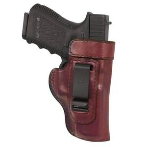 "Don Hume H715M 4.25"" 1911 Commander Clip On Inside the Pant Holster Right Hand Brown Leather"