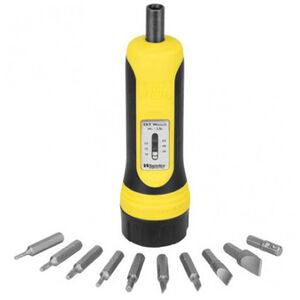 Wheeler FAT Wrench 10 Piece Bit Set 10-65 Inch/lbs Torque