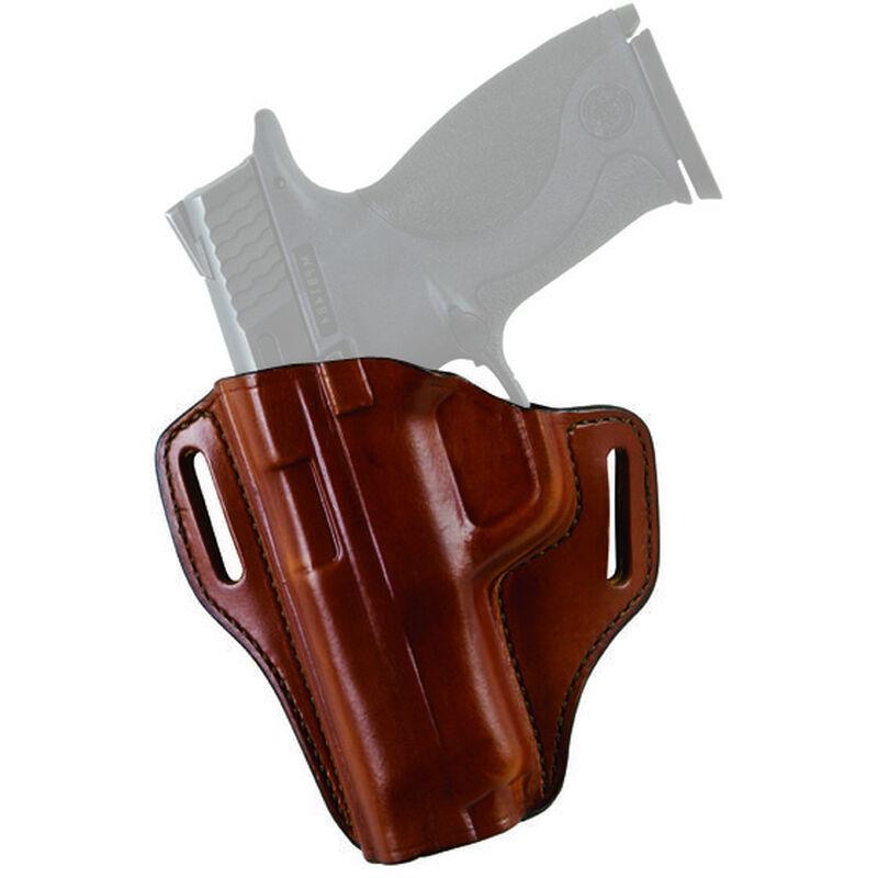 Bianchi Model 57 Remedy Semi Automatic Size 12, Colt 1911 Commander Size Belt Slide Holster Left Hand Leather Plain Tan 23941